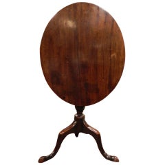 English Oak Tripod Oval Tilt-Top Table, 18th Century