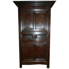 French Oak Cabinet or Bonnetiere, 18th Century
