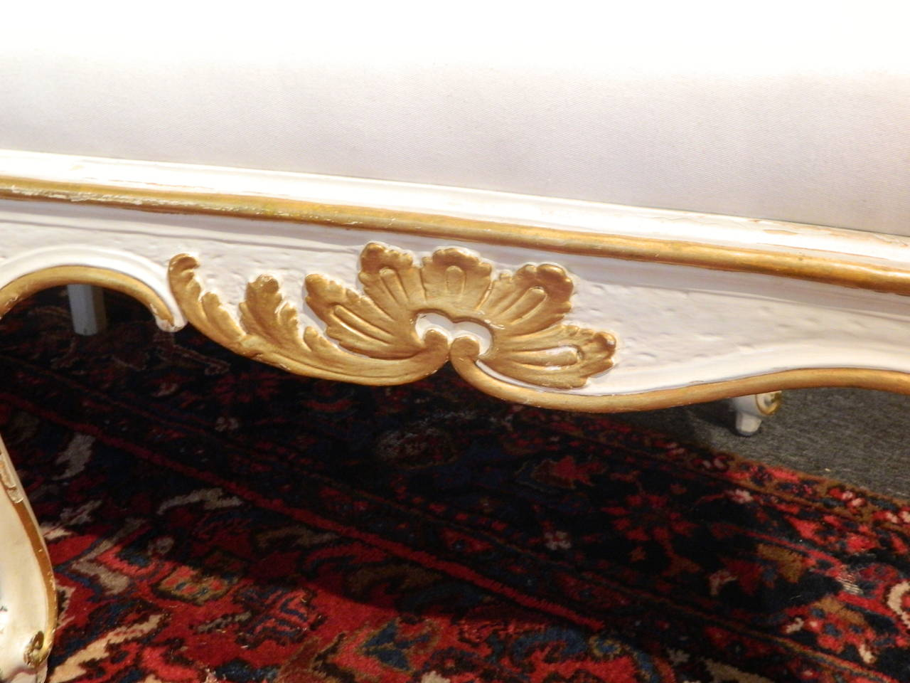 Wood Gustavian Painted and Parcel Gilt Canape or Sofa, 19th Century For Sale