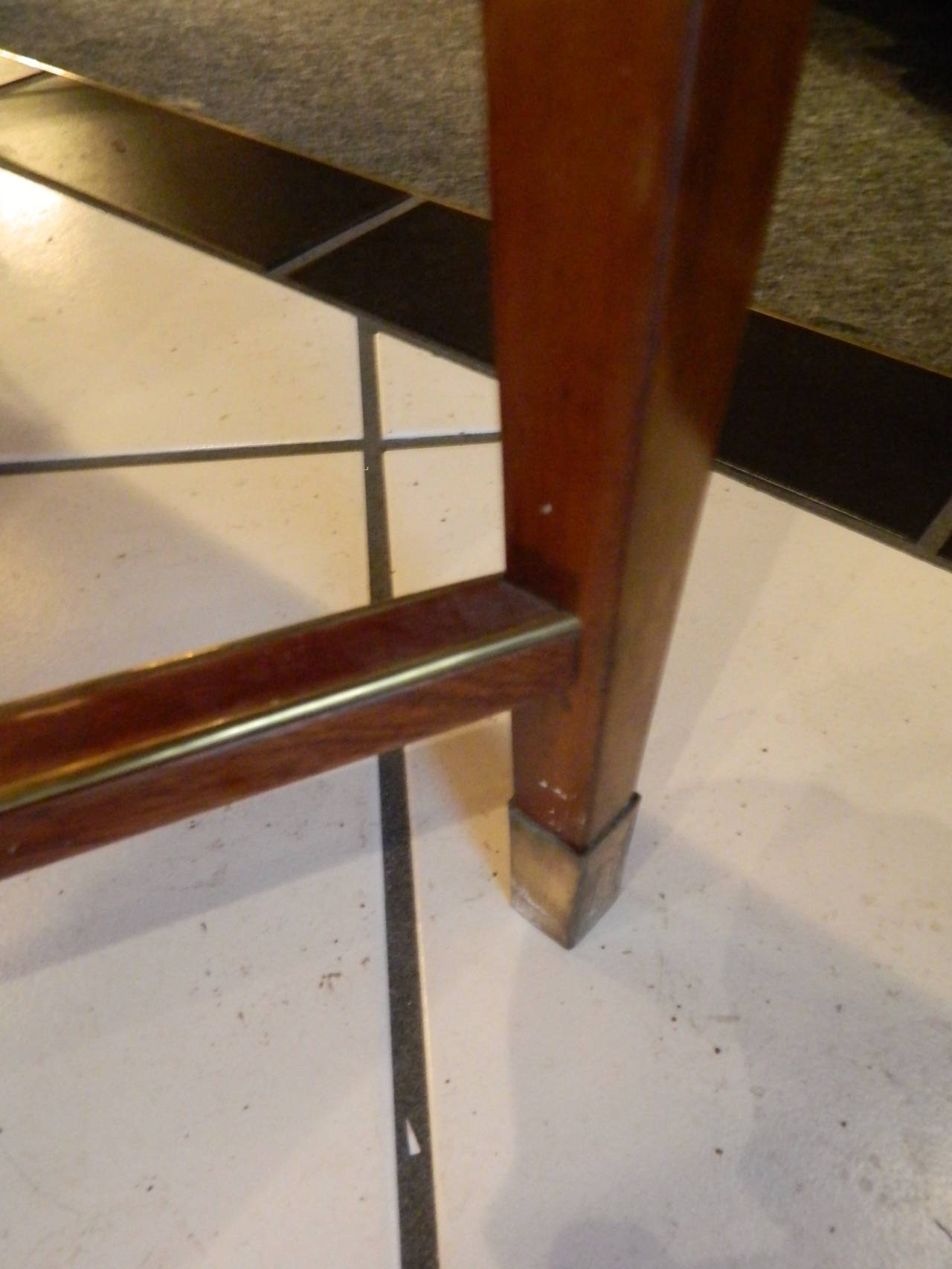 Russian Brass Mounted Mahogany Writing Table or Desk, 19th Century In Excellent Condition For Sale In Savannah, GA
