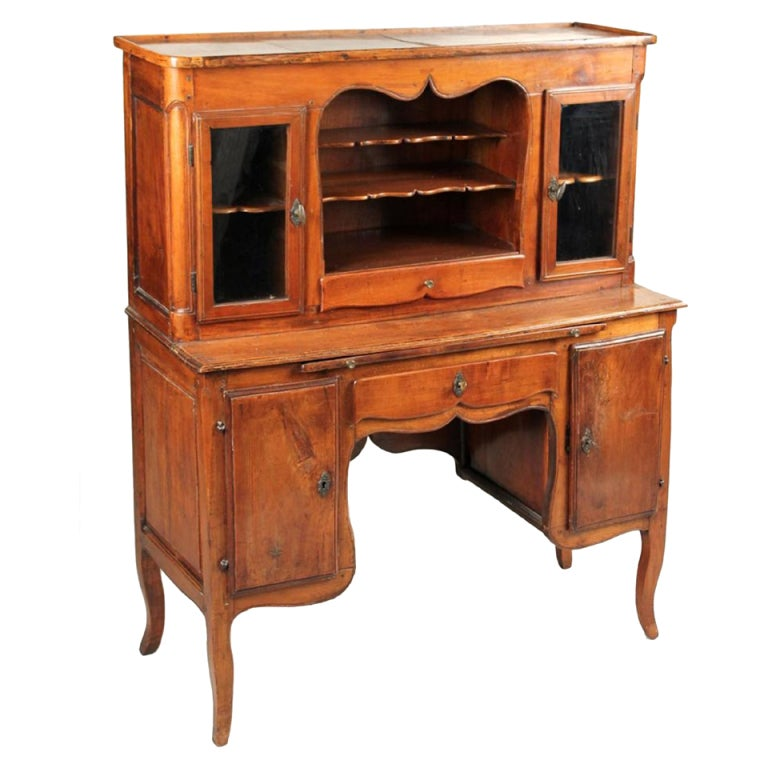 A Unique French Provincial Walnut Ladies Writing Desk 1 - A Unique French Provincial Walnut Ladies Writing Desk At 1stdibs