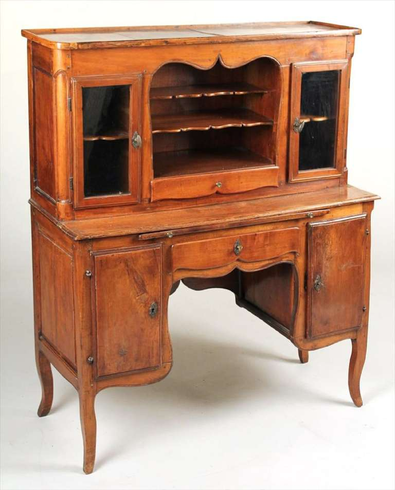 18th Century French Provincial Walnut Las Writing Desk
