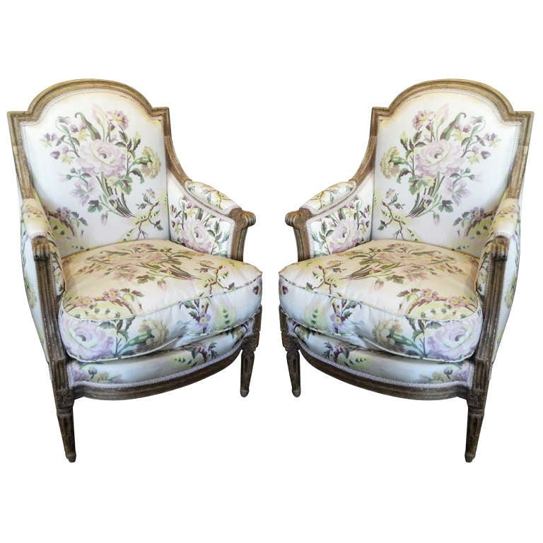 pair of louis xvi carved beechwood fauteuils or chairs at 1stdibs. Black Bedroom Furniture Sets. Home Design Ideas
