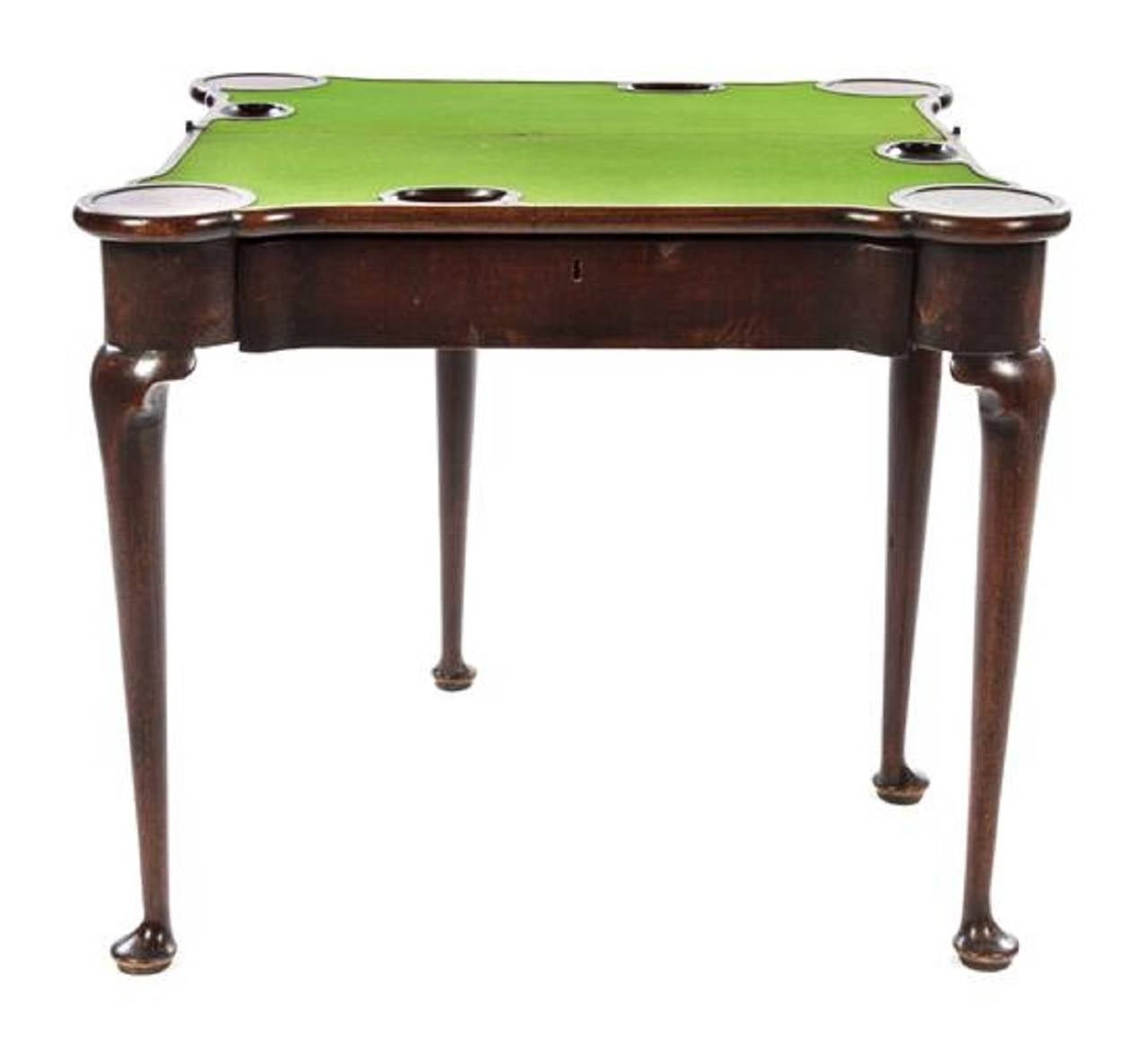 George iii mahogany flip top card table 18th century for for Table th rotate