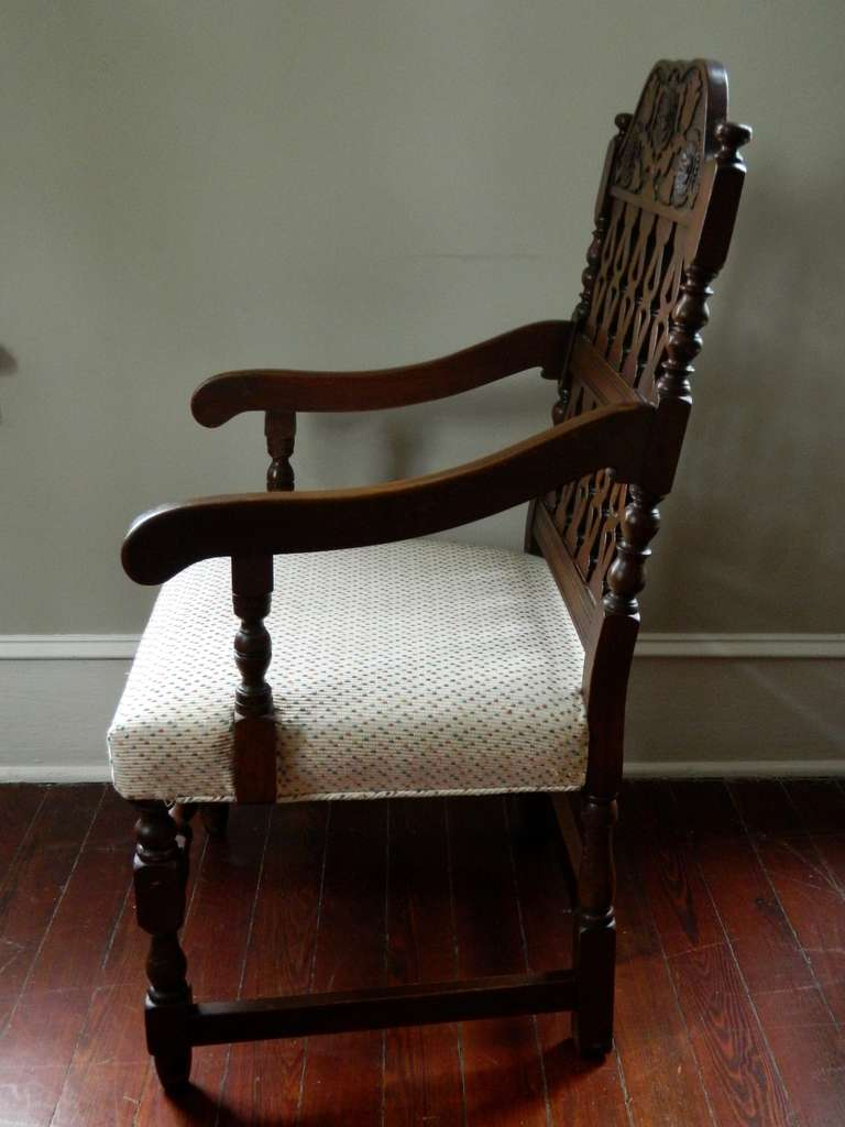 early 20th century set of eight dining chairs image 8