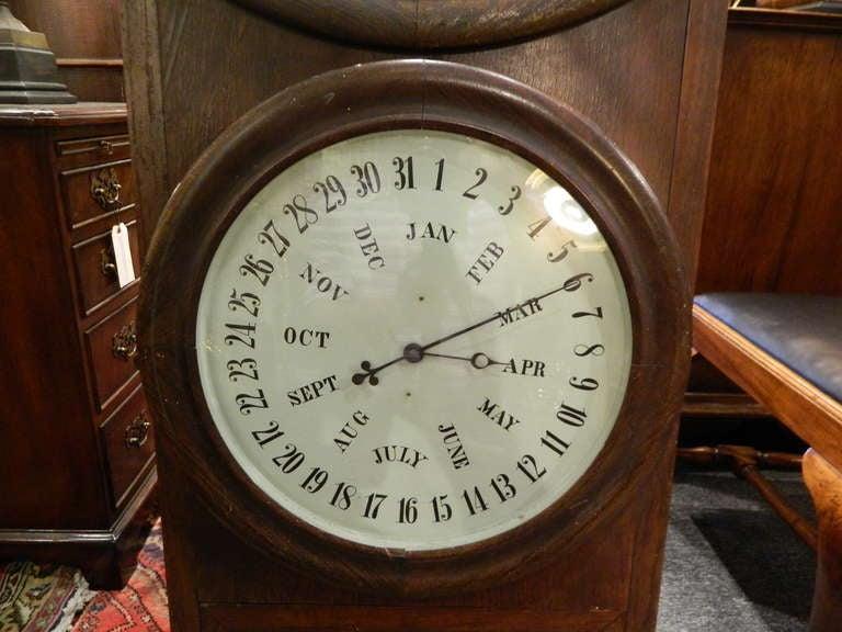 B B Lewis Double Dial Perpetual Calendar Wall Clock At