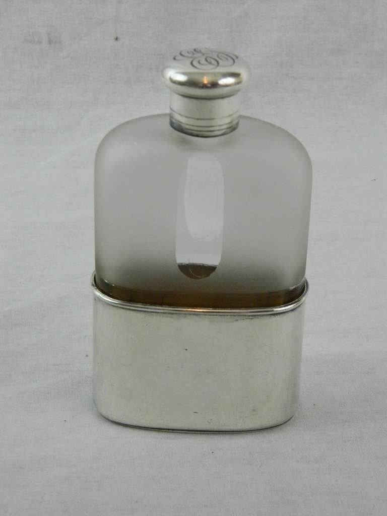 19th Century Sterling Silver and Crystal Flask by Tiffany & Co 2