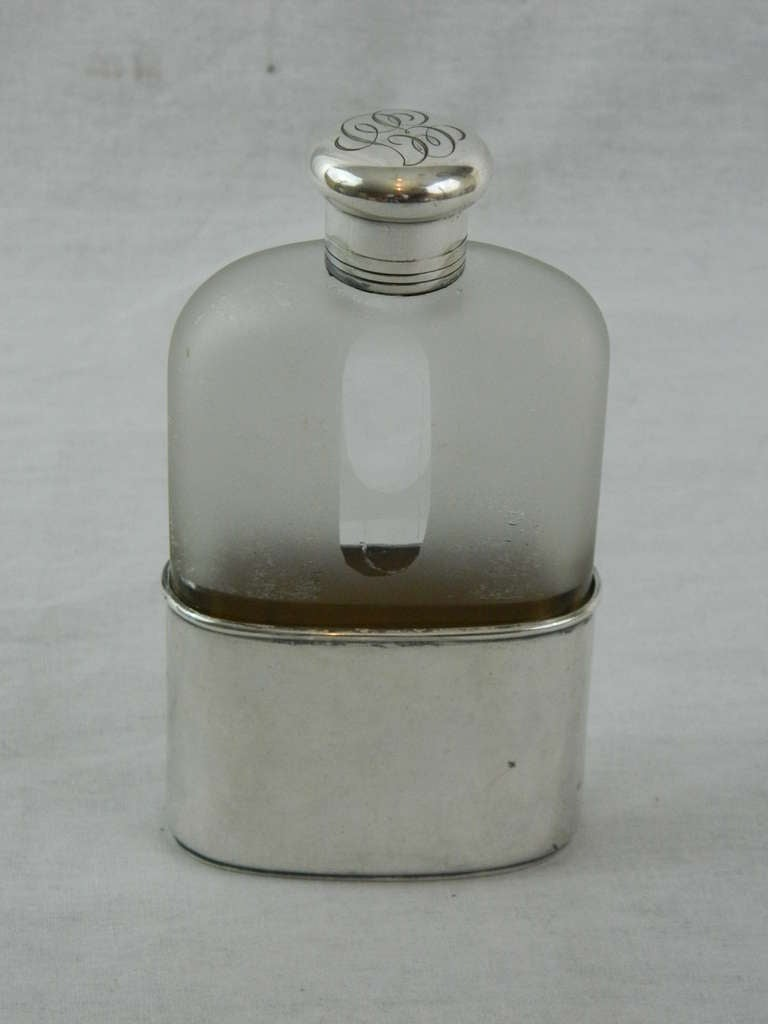 19th Century Sterling Silver and Crystal Flask by Tiffany & Co 5