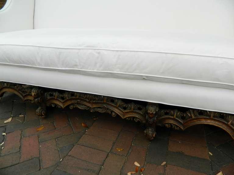 19th Century Italian Renaissance Revival Canape or Sofa For Sale 4