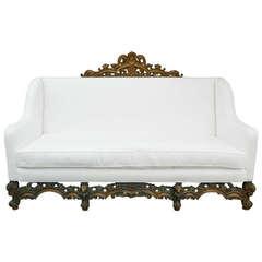 19th Century Italian Renaissance Revival Canape or Sofa