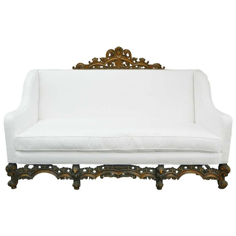 19th Century Italian Renaissance Revival Canape Or Sofa For
