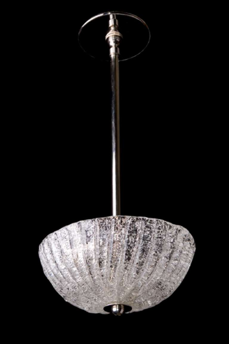 20th century murano glass modern pendant two light fixture in polished nickel for sale at 1stdibs - Murano glass lighting ...