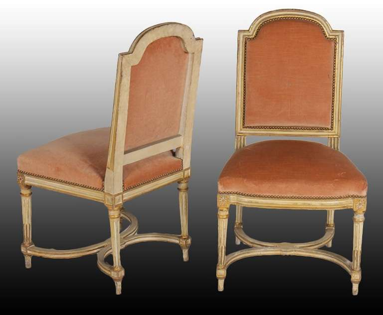 Maurice Hirsch Set Of Six Louis XV Style Giltwood Dining Chairs Circa 1930s