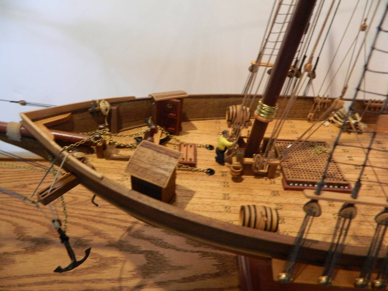Acrylic Enamel Paint >> Ship Model of the Harvey, 1847, Baltimore, Maryland in Case at 1stdibs