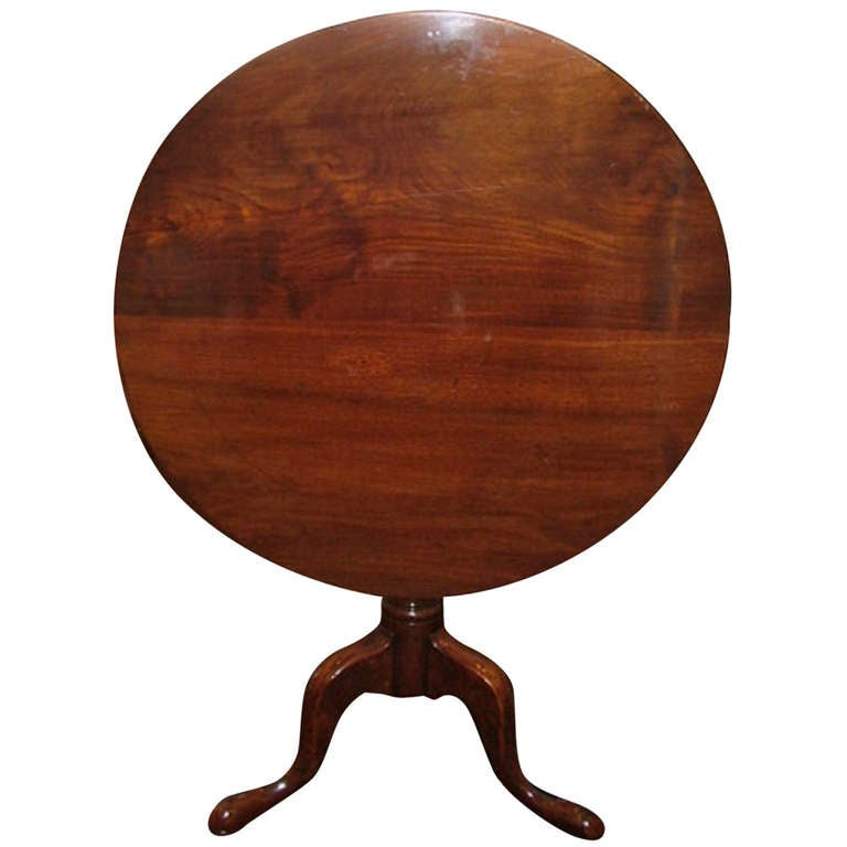 19th Century Mahogany Tilt Top Table
