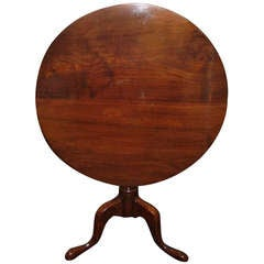 English Mahogany Tilt-Top Table, 19th Century