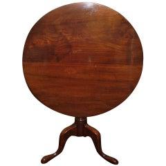 English Mahogany Tilt-Top Table, 19th Century