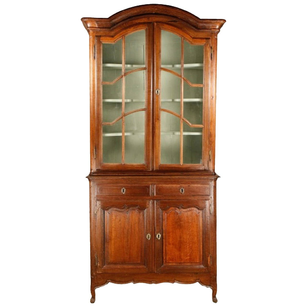 french oak bibliotheque or display cabinet early 19th. Black Bedroom Furniture Sets. Home Design Ideas