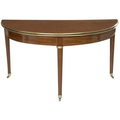 french directoire demi lune table with leather top at 1stdibs. Black Bedroom Furniture Sets. Home Design Ideas