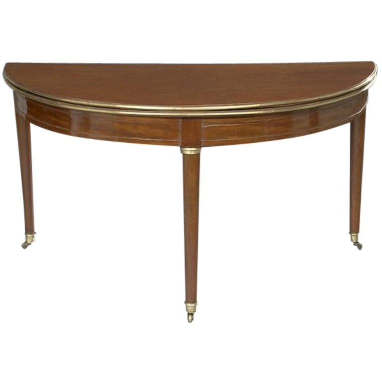 French directoire demi lune table with leather top at 1stdibs - Table cuisine demi lune ...