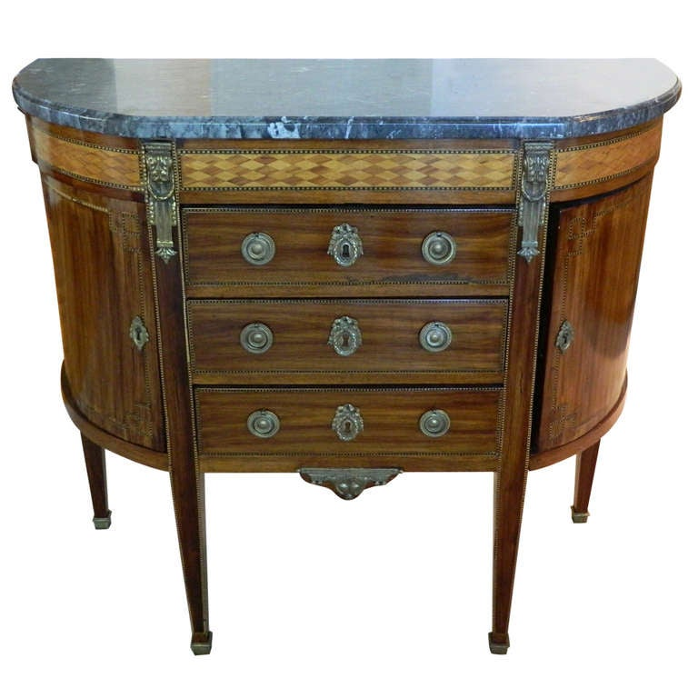 Circa 1800 39 s french marquetry commode or dessert console - Console commode ...