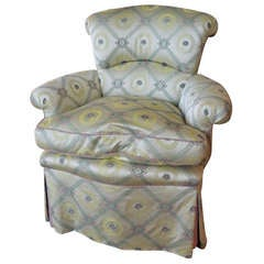Early 20th Century Upholstered Slipper French Chair