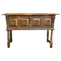 17th Century English Oak Two Drawer Sideboard