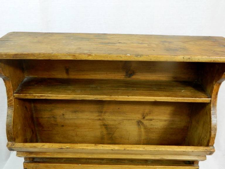 19th Century French Three-Tier Hanging Wall Shelf For Sale 2