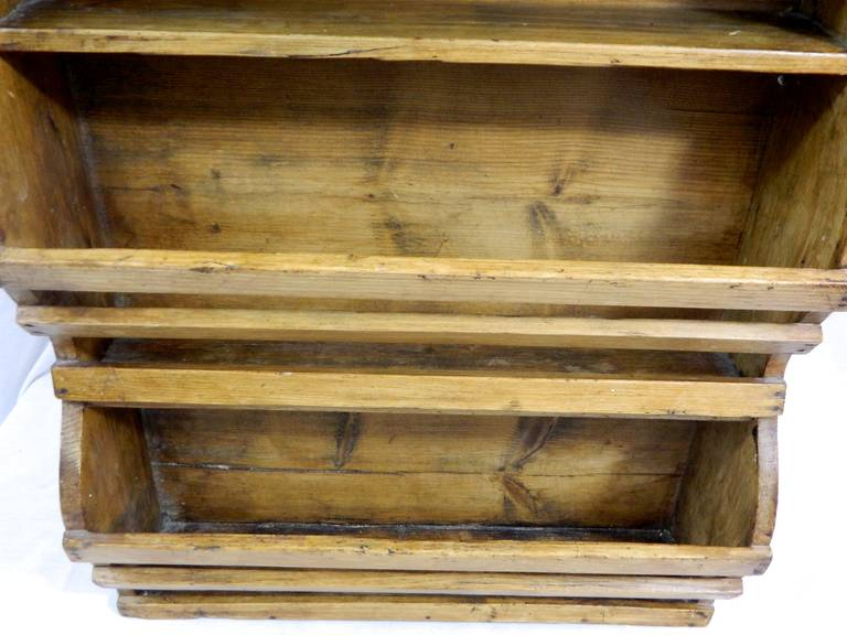 19th Century French Three-Tier Hanging Wall Shelf For Sale 3