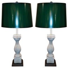 Pair of 19th Century Balustrades Adapted as Lamps