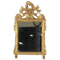 Circa 1800's Italian Neoclassical Gilt Wood Mirror