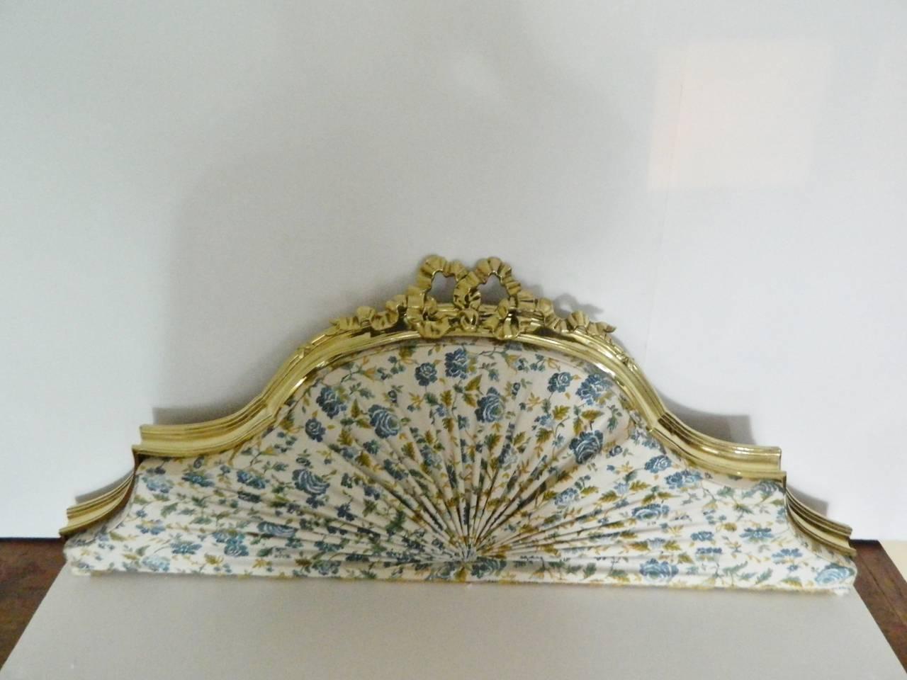 19th century polished brass bed canopy corona or ciel de. Black Bedroom Furniture Sets. Home Design Ideas