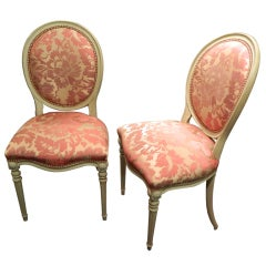 Pair of Louis XVI Style Painted Side Chairs, Early 20th Century