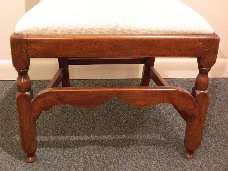 New England Maple Chippendale Style Desk or Side Chair, 19th Century For Sale 2