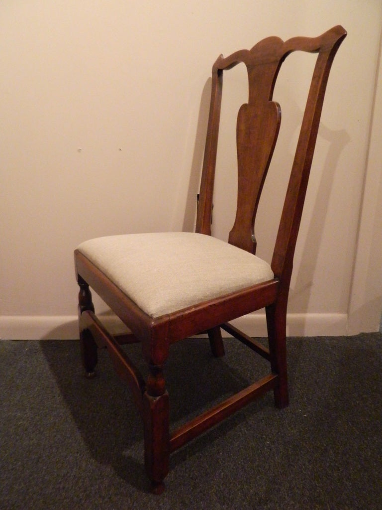 New England Maple Chippendale Style Desk or Side Chair, 19th Century In Excellent Condition For Sale In Savannah, GA