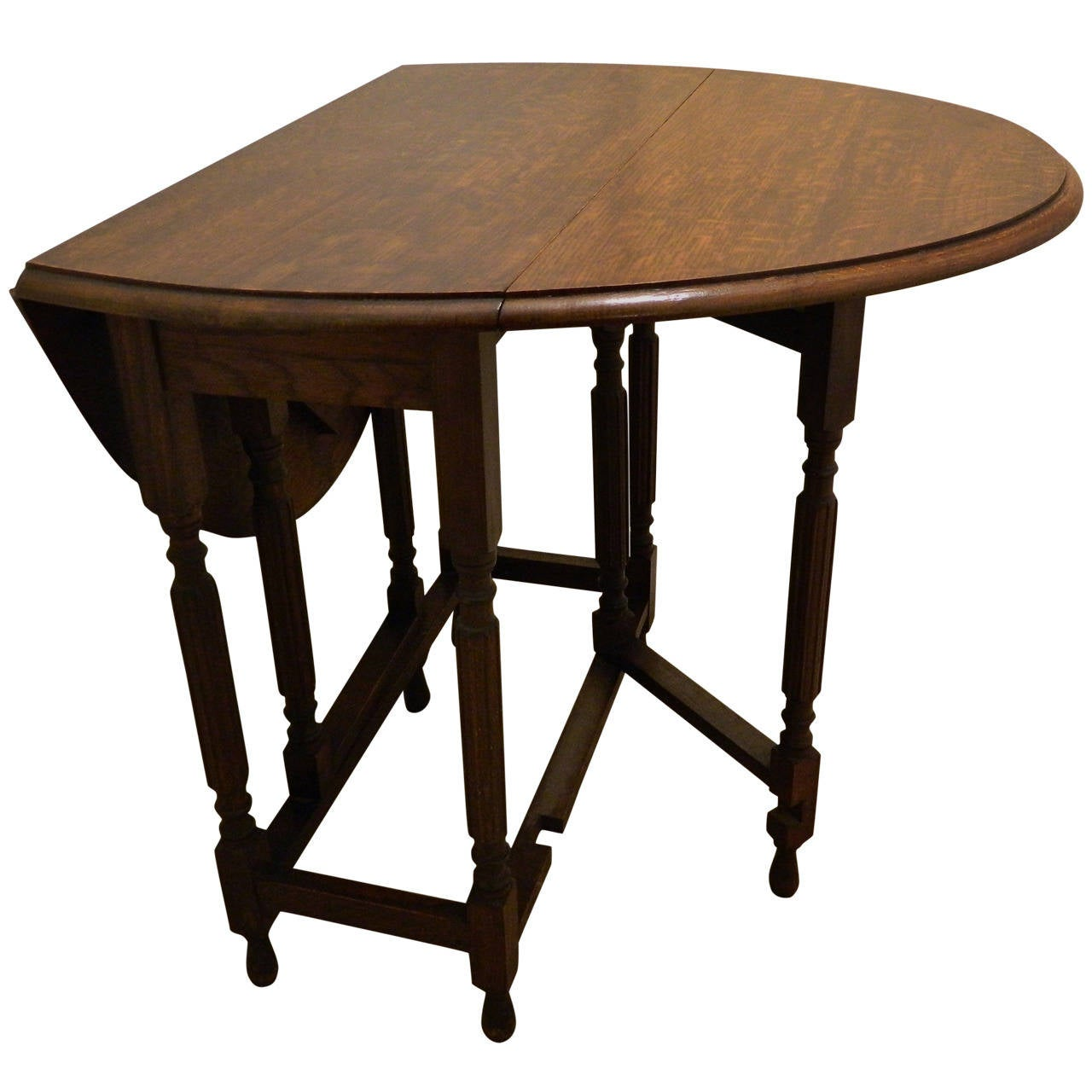 Oak Table Legs ~ English oak gate leg table th century at stdibs