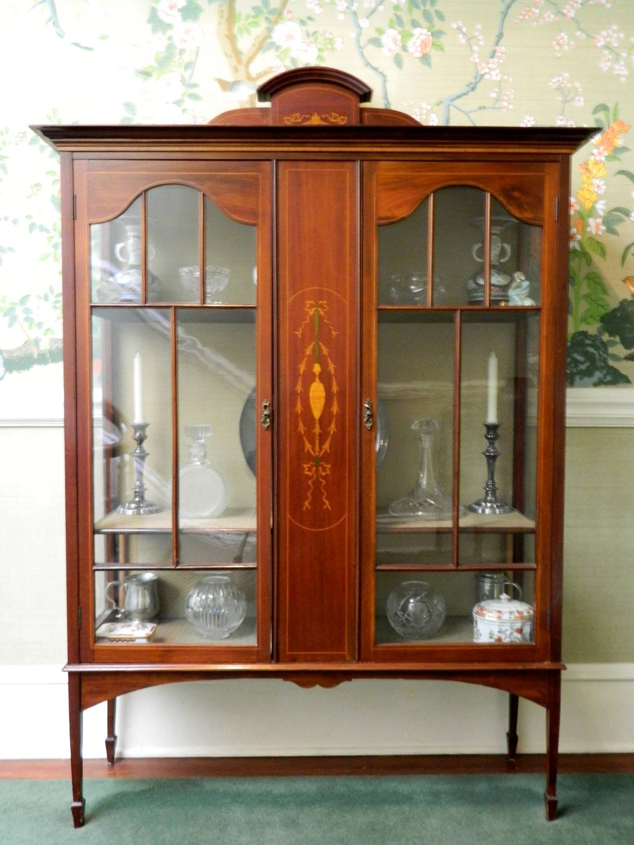 glass antique three claw cabinet img feet with round panels china appraisal and