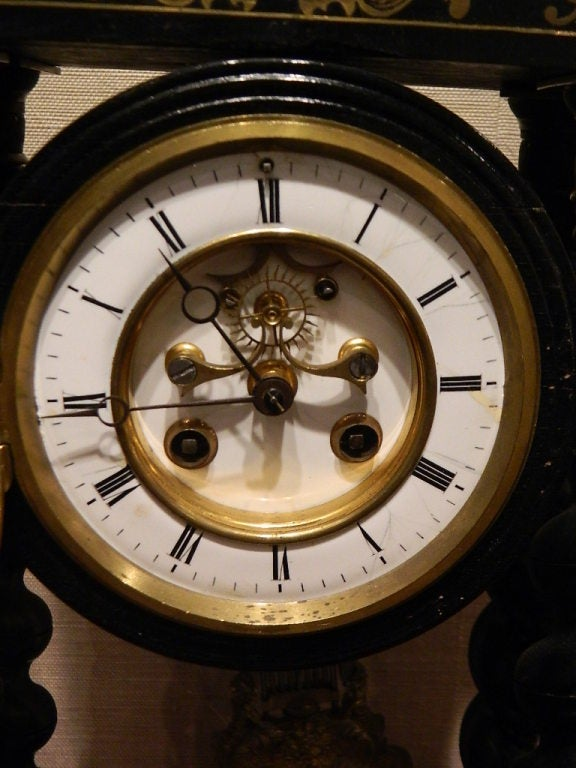 French Boulle Mantel Clock 19th Century For Sale At 1stdibs