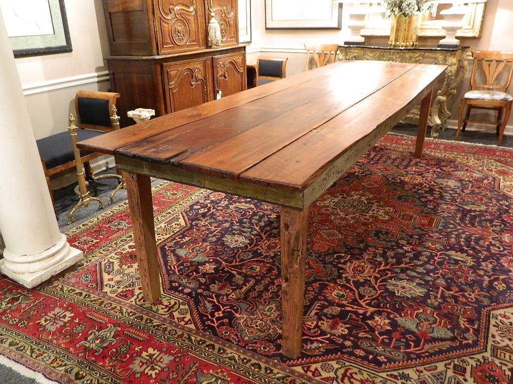 Rustic Southern Georgian Pine French Farm Table At 1stdibs