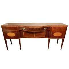 Late 18th Century Rare Size Regency Sideboard with Satinwood Inlaid Top