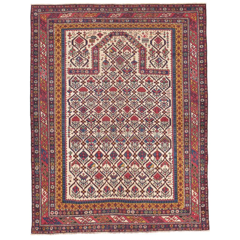 Antique Shirvan Prayer Rug For Sale At 1stdibs