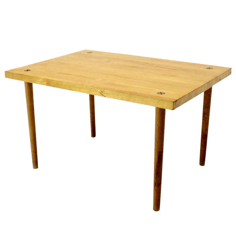 Modern Industrial Thick Butcher Block-Top Work Table