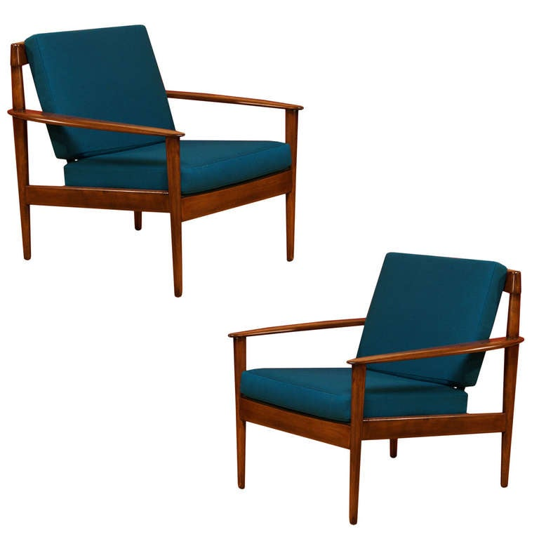 Danish Modern Lounge Chairs by Grete Jalk at 1stdibs
