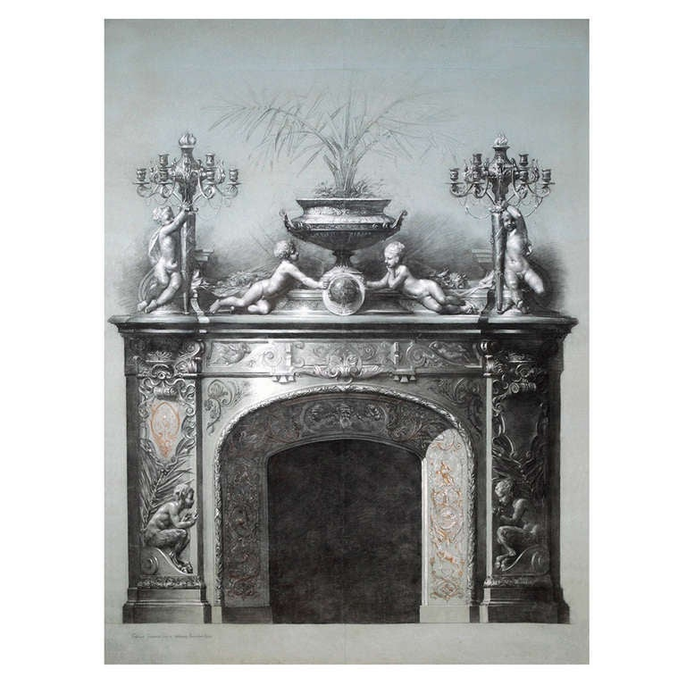Design For A Mantelpiece At 1stdibs