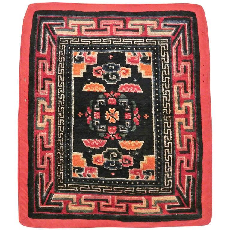 Antique Tibetan Rug: Antique Tibetan Rug Maktri Tankher At 1stdibs