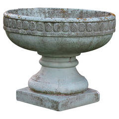 French Louis XVI Style Vase Middle Fountain Cast Stone, France, circa 1900s