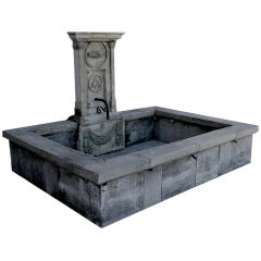 "Freemason ""The Fraternity"" Antique Wall Fountain in Limestone, France"