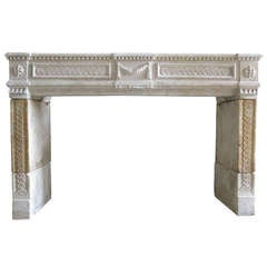 Embassy Quality French Marie-Antoinette Louis XVI Period Fireplace Circa 1770s