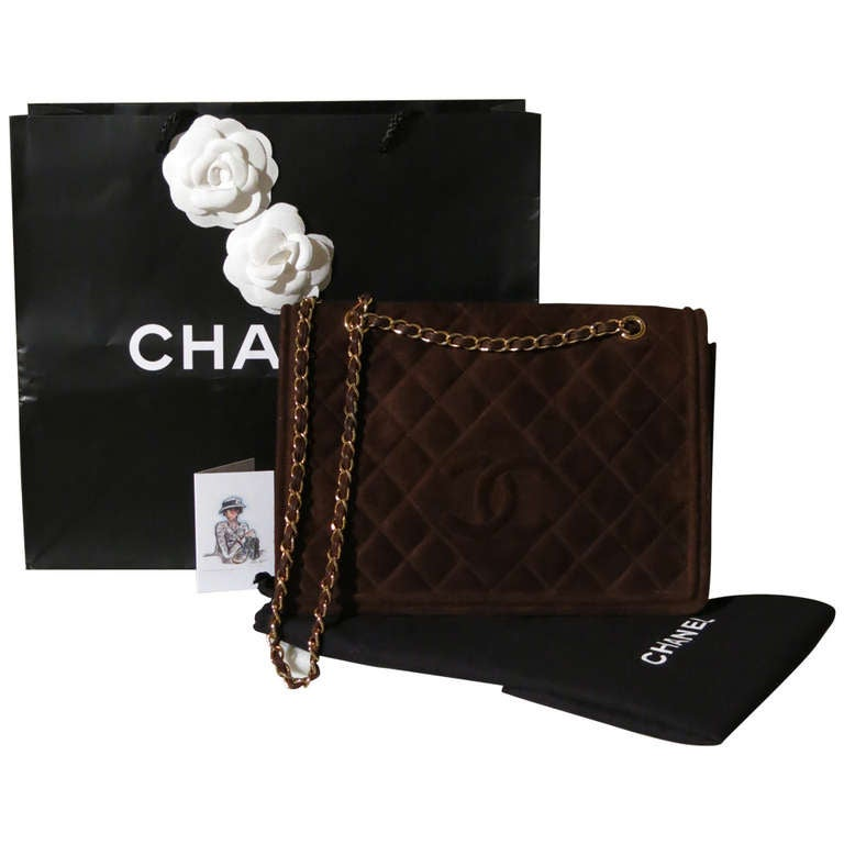 Chanel Collector Flap-Bag Classy Velours Leather Collection Handmade In Italy