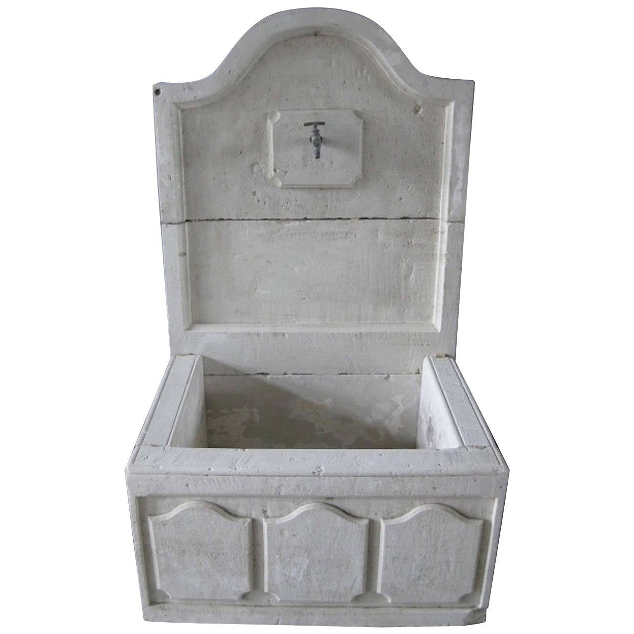 French Louis XIV Style Fountain Handcrafted Limestone, Provence, France For Sale